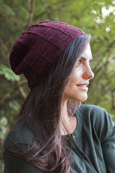 Light Basics Garter Ridge Hat - Slouch Version