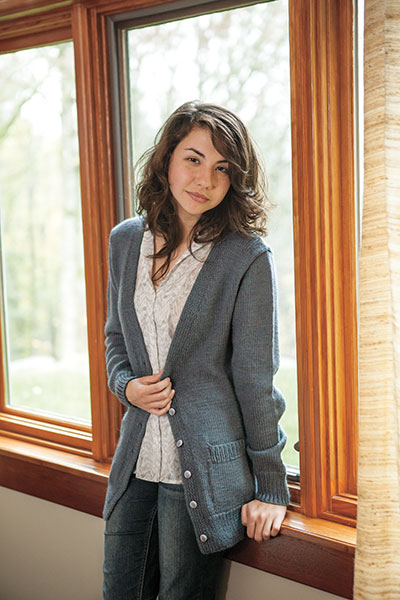 Boyfriend Cardigan - Knitting Patterns and Crochet Patterns from KnitPicks.com
