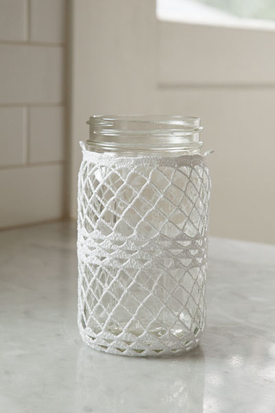 Crocheted Ball Jar Cozies