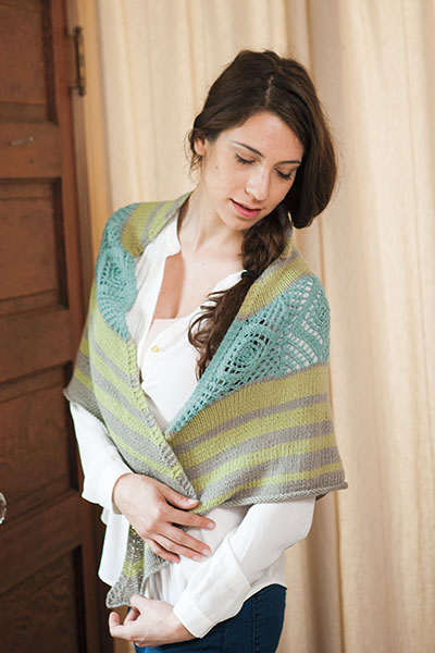 Sea Glass Sunshine shawl