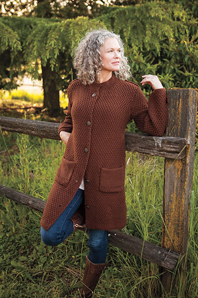 Moss Stitch Coat Pattern