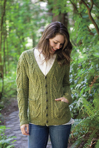 Fiddlehead Cardigan