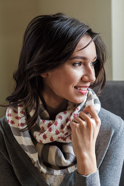 Polka Dot Stripes Cowl