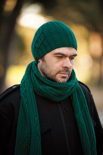 Winding Road Hat & Scarf - Men's Scarf Knitting Pattern