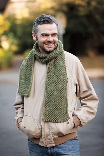 Handsome Fella - Men's Scarf Knitting Pattern