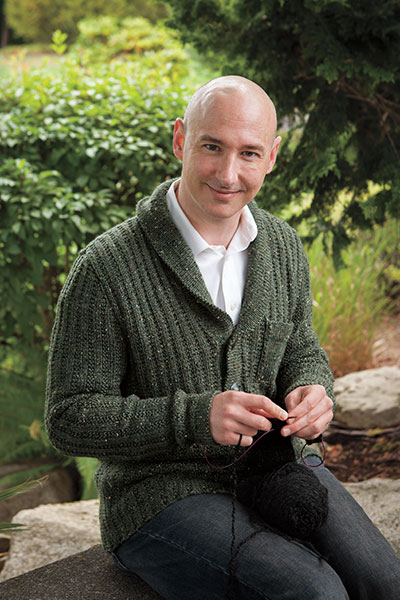 Hidden Light Cardigan - Men's Cardigan Knitting Pattern