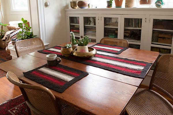 Shadow Weave Placemat and Table Runner