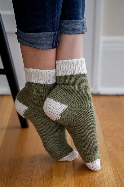 Knitting Pattern Chunky Bed Socks : Lazy Weekend Socks - Knitting Patterns and Crochet Patterns from KnitPicks.co...