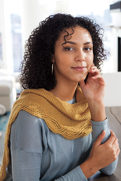 Meandering Lace Shawlette