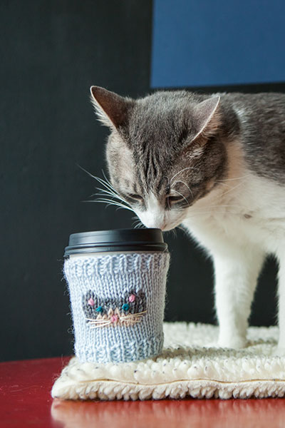 Cat-puccino Cup Cozies