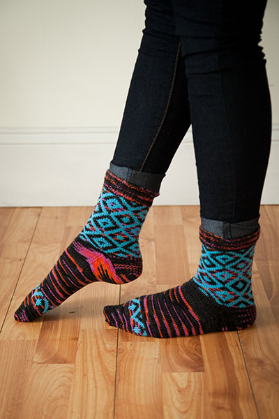 Geometric Diamonds Socks