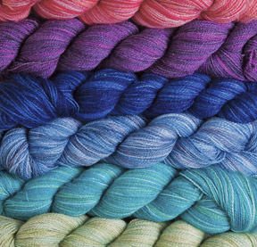 Shimmer Hand Dyed Lace Yarn