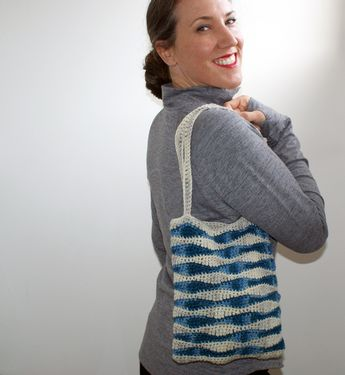 Ocean Waves Crochet Bag Pattern