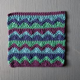 Mismatched Crochet Dishcloth