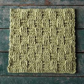 Picnic Basket Crochet Dishcloth