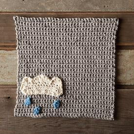A Chance of Rain Crochet Dishcloth