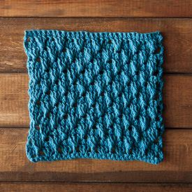 Dancing Shells Crochet Dishcloth