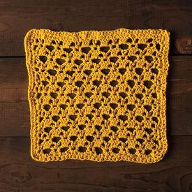Golden Lattice Dishcloth