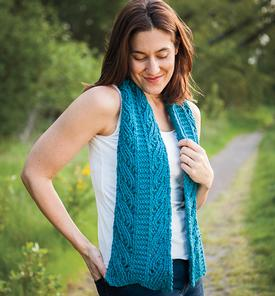 Duo Columns Reversible Scarf