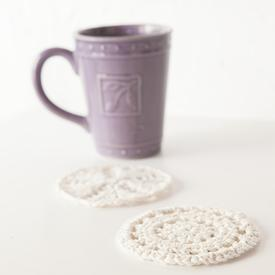 Knit & Crochet Coaster Set