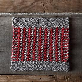 Bicolor Tweed Dishcloth