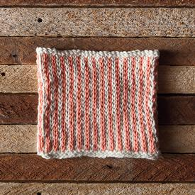 Sherbet Stripes Dishcloth