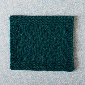 Fishbones Dishcloth Pattern