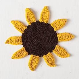 Sunflower Dishcloth