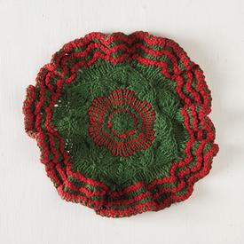 Festive Wreath Dishcloth