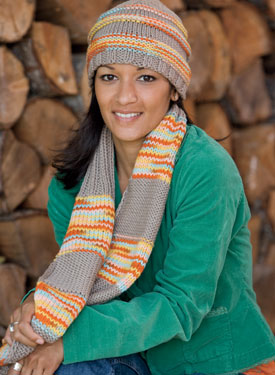 Learn to Knit Hat & Scarf Pattern