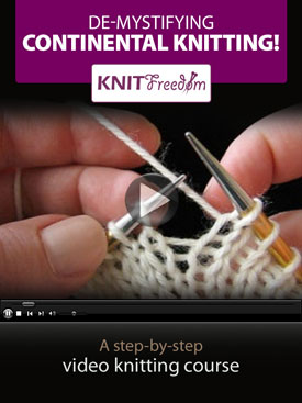 How to Knit Continental | Knitting Women