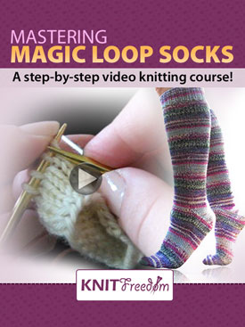 Knitting Pattern Magic Loop Socks : Mastering Magic Loop Socks Complete Video Knitting Course eBook - Knitting Pa...