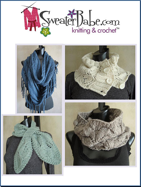 5 Best Selling Scarf & Cowl Knitting Patterns eBook
