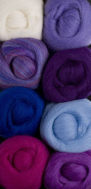 Wildflowers Wool Roving Pack