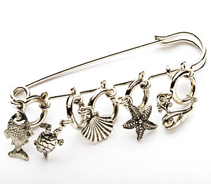 By the Sea Shawl Pin