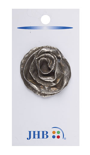 Grande Camelia Antique Silver 1 1/2