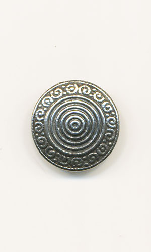 TOTEN Pewter 17mm Button