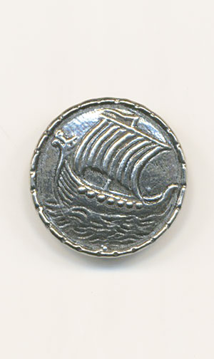 SHIP Pewter 20mm Button