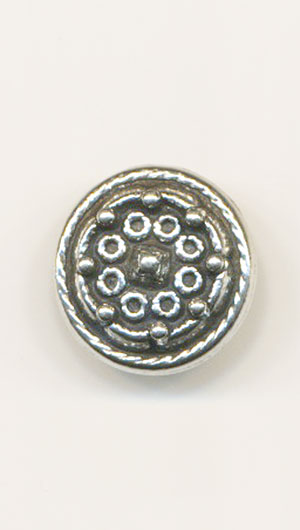 SOLJE Pewter 15mm Button