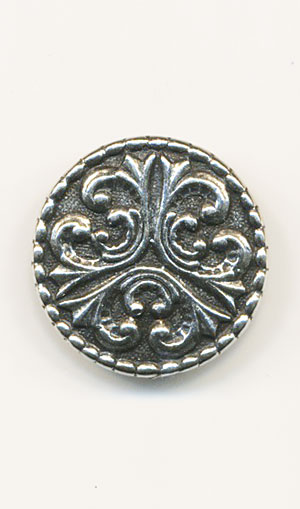 TELE Pewter 20mm Button