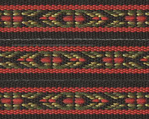 Folkloric  Cotton Ribbon red/grn