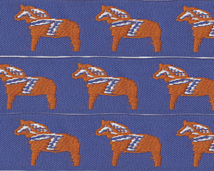 Dala (Horses) Cotton Ribbon