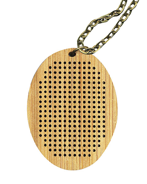 Bamboo Oval with Antique Bronze chain