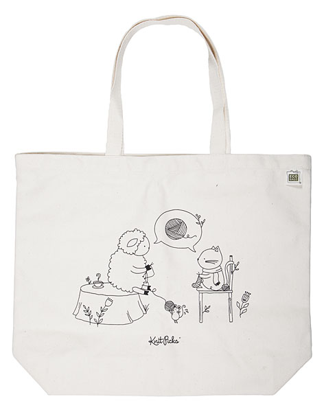 Sheep & Kitten Tote Bag