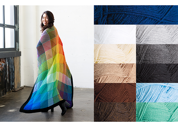 Hue Shift Afghan - Decor Colorway from Knit Picks