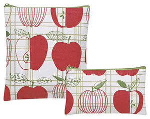 Apple Check Snack Bags Set of 2