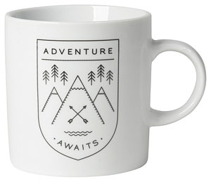 Adventure Awaits Short Mug 12oz