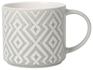Diamante Stacking Mug Gray 16oz
