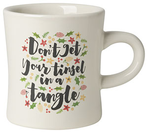 Tinsel Tangle Diner Mug 12oz