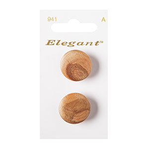 Natural Smooth Wood Button, 22mm